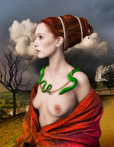 Lady-portrait-with-snake-Mariano-Vargas